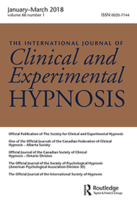 SCEH Journal - The International Journal of Clinical and Experimental Hypnosis