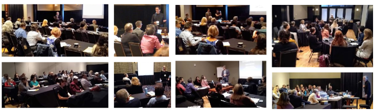 Scenes from SCEH clinical hypnosis training programs.